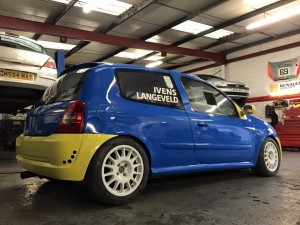 Aarons Autos Clio Cup Race Car