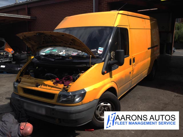 Ford Transit's oil leaks solved  Left garage with a squeaky