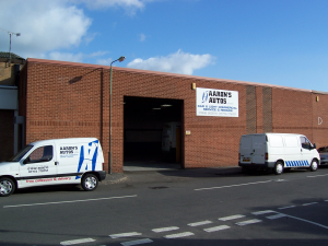 Aarons Autos car and van garage in Derby